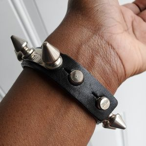 Burberry Jewelry - Burberry Leather and Stud